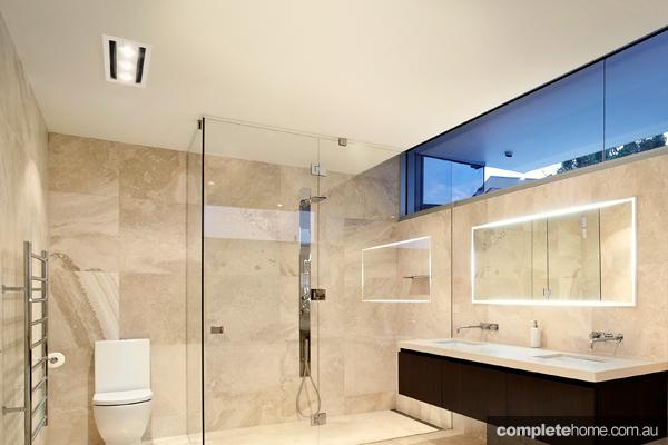 Bathroom heat light