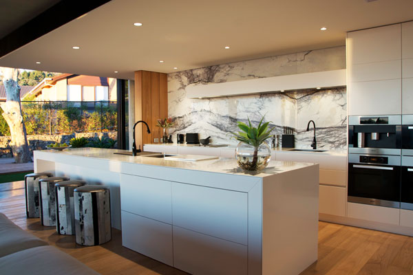 View from the top retro modern kitchen design specifier for Sa company kitchen